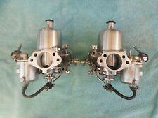 Datsun 240Z carbs rebuilt polished twin round top SU carburetors