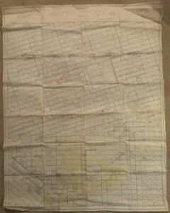 LINEN HUGE c1920s 30s Early Ownership Plat Map Upton County Texas Zingery Co