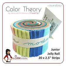 Color Theory V & Co Ombre Colours Moda Junior Jelly Roll quilting fabrics rolls