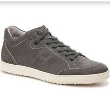 6892622a748 New Hogan Logo Lace Up Charcoal Made in Italy Suede Sneakers SzUK8.5 US 9.5