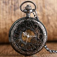 Winding Mechanical Men's Pocket Watch Antique Retro Steampunk Hollow Gear Hand
