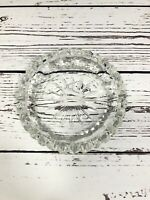 """Crystal Cigarette 6"""" Ashtray Cut Glass Made In France"""