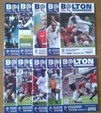 Away Teams A-B Premiership Football Programmes