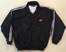 Nike Retro Vintage Made In USA Full-Zip Windbreaker Jacket Collar Coat Medium