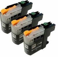 3 PK INK NON-OEM LC-203XL LC-201 LC-203BK BLACK BROTHER MFC-J880DW MFC-J885DW