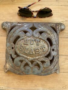 Antique Cast Iron Hot Blast Stove Piece