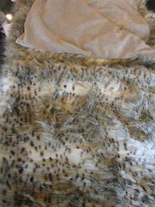 Pottery Barn faux fur throw  50 60 lynx  photo shoot sample