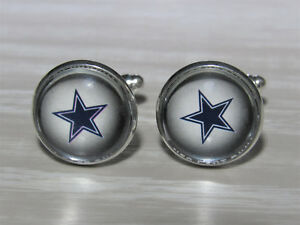 Dallas Cowboys Cufflinks made from Football Cards, Gift for Men, Husband, Dad