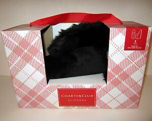 Charter Club plush velvet bootie slippers S 5-6 choose color NEW $28