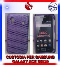 Custodia + Pellicola MESH VIOLA per Samsung galaxy Ace S5830