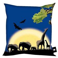 BAMBINI COMODO 45.7cm Cuscino africani ANIMALE Safari Chiaro di luna design