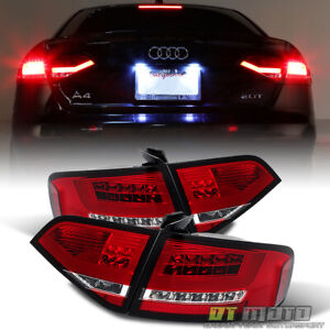 2009-2012 Audi A4 S4 Sedan Lumileds LED Red Tail Lights Brake Lamps Left+Right