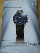 MALCOLM CAMPBELL BLUEBIRD WATCH WARD POSTER ADVERT READY TO FRAME A4 SIZE FILE D