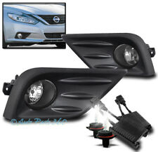 BUMPER DRIVING FOG LIGHTS LAMP CHROME W/50W 6K HID+SWITCH FOR 16-17 ALTIMA SEDAN