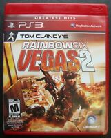 TOM CLANCY'S RAINBOW SIX VEGAS 2 GREATEST HITS PS3 SONY PLAYSTATION 3