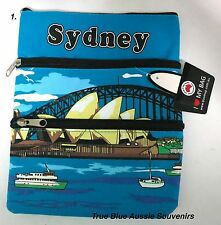 2x Australian Souvenir Travel Bags 3 Zipper Compartments - 8 Designs To Choose