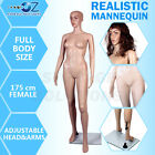 1 x New Female Full Body Size Mannequin Shop Display Mannequin 175cm F2