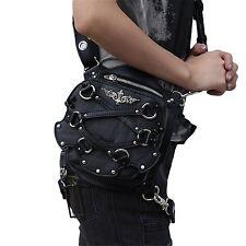 steel master Gothic Waist Bag Packs Steampunk Thigh Hip Holster Waist Packs Bags
