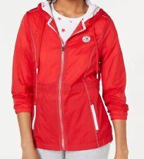Tommy Hilfiger Sport Womens Jacket  L Hooded Windbreaker