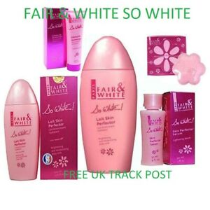 FAIR AND WHITE SO WHITE FACE AND SKIN CARE PRODUCTS-FULL REANG-FREE UK POST!!!