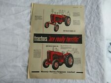 1957 Massey Harris Mh 333 555 Tractor Magazine Print Ad Poster