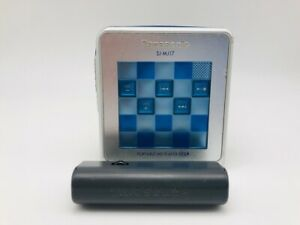 MD1263 Excellent  Panasonic PORTABLE MD PLAYER SJ-MJ17  Blue  w/Battery case
