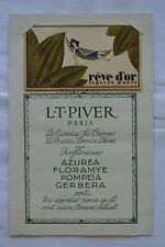 Carte parfumée avec Rêve d'or - Parfumerie L.T. Piver - 1929