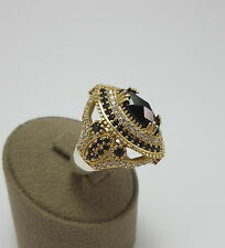 925 STERLING SILVER HANDMADE TURKISH JEWELRY / BLACK ONYX LADY RING