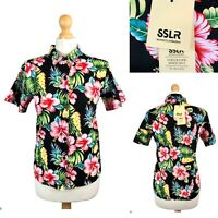 SSLR Women's Collection Floral Short Sleeve Casual Shirt Size XS BNWT RRP $35