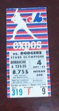 Montreal Expos Ticket Stub vs Dodgers September 4 1983 # 5