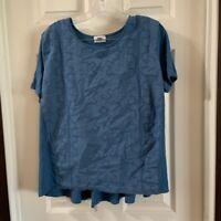 Old Navy Women's Blue Scoop Neck Short Sleeve Blouse L