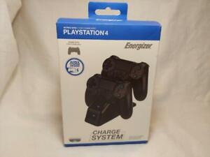 PlayStation 4 Charge System Double Dock PS4 Charger Controller Energizer EUC