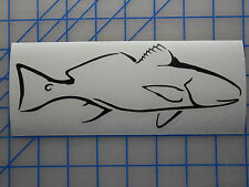 "Red Drum Decal Sticker 5.5"" 7.5"" 11"" Inshore Fish Flats Redfish Saltwater Game"