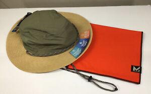 MISSION Unisex Cooling Safari Hat & Max Plus Towel-Cools Wet-Straw/Olive