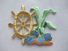 #3482 Clam,Wheel,Sea Grass,Coral Fishing Embroidery Iron On Applique Patch