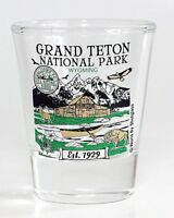 GRAND TETON WYOMING NATIONAL PARK SERIES COLLECTION SHOT GLASS