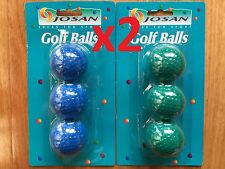 12x Golf Balls in Blue and Green Colour Coloured Golf Balls Made in Korea