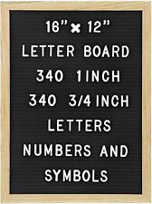 Felt Letter Board with 680 Letters, Numbers & Symbols 16 x 12 inch