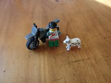 LEGO  MINI SCENE -- MOTO ENDURO ET CHIEN