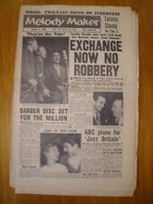 MELODY MAKER 1959 JAN 31 CHRIS BARBER TOMMY STEELE JAZZ