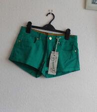 Patternless Ultra Low Rise Denim Petite Shorts for Women