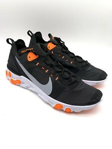 nike react Element 55 Black Grey Orange Trainers 12 47.5