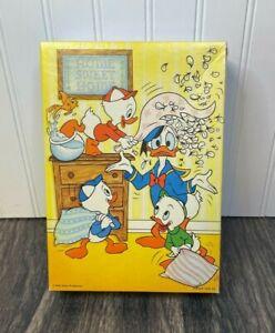 Vintage Donald Duck 48 Piece Springbok Jigsaw Puzzle - Huey Dewey Louie - EUC