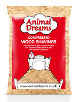 LARGE ANIIMAL DREAMS NATURAL WOOD SHAVINGS SAWDUST PET BEDDING HAMSTER RABBIT
