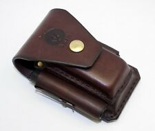 Brown Leather sheath For leatherman Surge multitool plus torch holder & bit kits