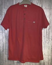 Boys Age 13-14 Years - Zara Red T Shirt Top - Grandad Style Collar