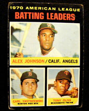 1971 Topps #61 Baseball Card A L Batting Leaders- Alex Johnson-Yaz-Tony Oliva
