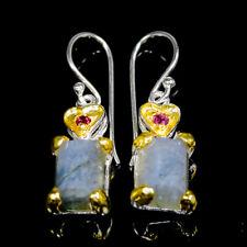 Handmade Natural Labradorite 925 Sterling Silver Earrings /E36567