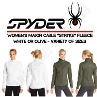 NEW Spyder Women's Major Cable Stryke Fleece - White or Guard - Variety of Sizes