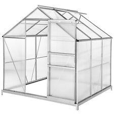 Serre de jardin polycarbonate avec base aluminium légume plante jardinage 5,85m³